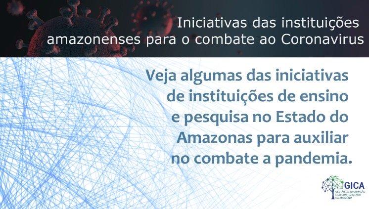 Mapeamento das Iniciativas das Instituições Amazonenses para o Combate ao Coronavírus